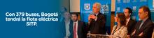 Anuncio del Alcalde Mayor de Bogotá, Enrique Peñalosa, de adjudicación de flota eléctrica para el SITP