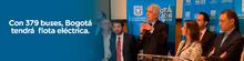 Alcalde Mayor de Bogotá, Enrique Peñalosa, da declaraciones de adjudicación de flota eléctrica para el SITP