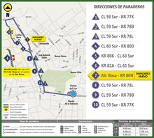 Mapa de la ruta alimentadora 10-1
