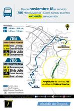 Extensión de la ruta urbana 786