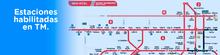 Mapa de estaciones de TransMilenio habilidadas para el 22 de noviembre de 2019