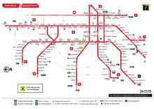 Mapa de estaciones vandalizadas por protestas