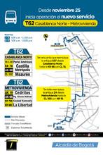 Ruta T62 Casablanca Norte - Metrovivienda