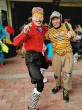 Personajes en la fiesta en Ciudad Bolívar