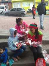 Los niños participando en los eventos del Carnaval