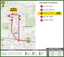Mapa de la ruta 2-3 San Antonio