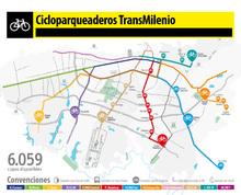 Cicloparqueaderos en TransMilenio