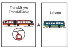 Transbordo TransMilenio a Urbano