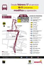 Recorrido ruta 18-11
