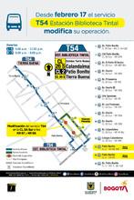 Recorrido ruta T54