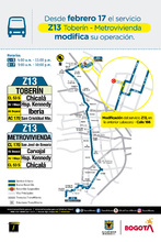 Recorrido ruta Z13