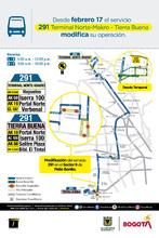 Recorrido ruta 291