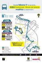 Recorrido de la ruta E26A