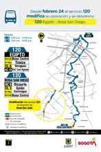 Cambios operacionales de la ruta 120