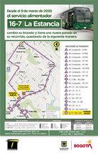 Mapa de la ruta 16-7 La estancia