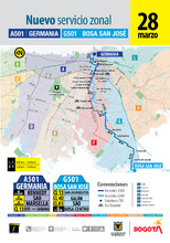 Recorrido de la ruta A501-G501