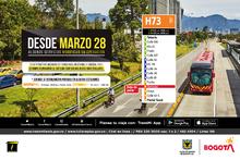 Servicio H73 Toberín - Portal Tunal presenta novedad en su recorrido