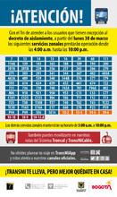 Servicios urbanos  durante la cuarentena y sus horarios