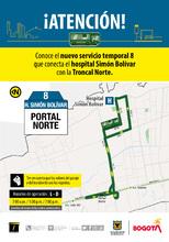 Ruta 8, servicio urbano Portal Norte