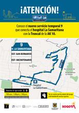 Ruta 9, servicio urbano Hospital La Samaritana