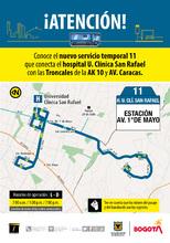 Ruta 11, servicio urbano Clínica San Rafael