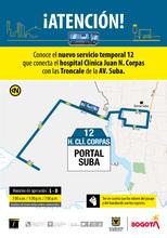 Ruta 12, servicio urbano Clínica Corpas