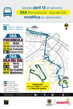 Mapa de la ruta 56A