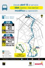 Mapa de la ruta 59A