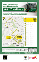 Mapa de la ruta 16-8