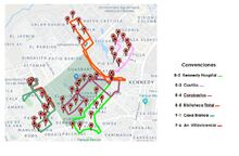 Mapa de alta afluencia de personas por Corabastos