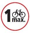 1 bicicleta máximo