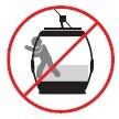 Prohibido sacar cualquier extremidad