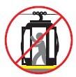 No obstruya el mecanismo de apertura