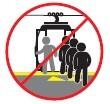 Prohibido bajar en la zona de embarque
