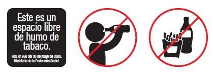 Prohibido fumar, beber y comer