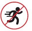 Evite accidentes, no corra