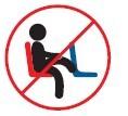 No poner los pies en las sillas