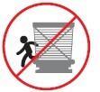 No ingrese o salga por las puertas de las estaciones no permitidos