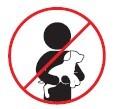 Se prohíbe llevar cualquier tipo de mascota en los brazos