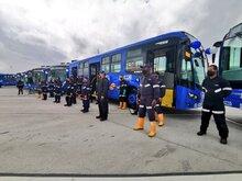 Algunos buses nuevos del SITP