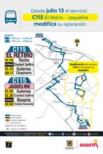 Mapa de la ruta C115
