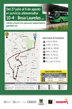 Mapa de  la ruta 10-4 hora pico con novedad en su recorrido