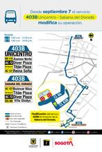 Cambio operacional de la ruta zonal 403B