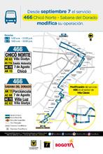 Cambio operacional de la ruta zonal 466