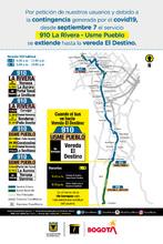 Cambio operacional de la ruta zonal 910