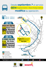 Cambio operacional de la ruta zonal SE14