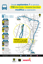 Cambio operacional de la ruta zonal T13