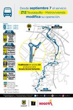Cambio operacional de la ruta zonal Z12