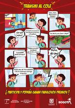 Historieta para anunciar el concurso concurso intercolegiado de historietas