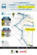 Afiche ruta T40